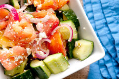 Greek style salad Stock Images