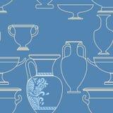 Greek style seamless national pattern. Ceramic seamless pattern. Ethnic national Greek style background Royalty Free Stock Image