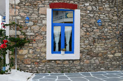 Greek style window Royalty Free Stock Images