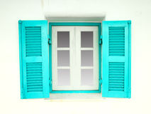 Greek Style windows Stock Photography