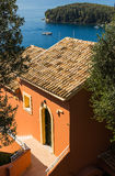 Greek summer house Royalty Free Stock Images
