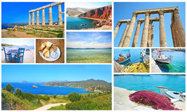 Greek summer photos collection Royalty Free Stock Image