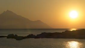 Greek sunrise Stock Photo