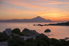 Greek sunrise royalty free stock image