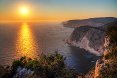 Greek Sunset Royalty Free Stock Photos