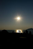 Greek sunset Stock Photo