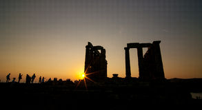 Greek sunset Stock Images
