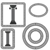 Greek symbols Royalty Free Stock Image