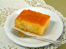 Greek syrop cake Royalty Free Stock Images