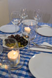 Greek table Royalty Free Stock Image