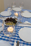 Greek table Stock Photo