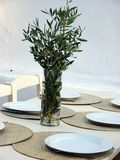 Greek Table Decoration Stock Photography