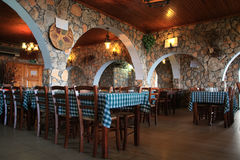 Greek Tavern. In Larnaca Cyprus Royalty Free Stock Images