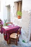 Greek tavern Stock Photography