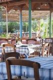 Greek tavern. In the island of crete Royalty Free Stock Photo