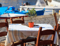 Greek tavern concept Royalty Free Stock Images