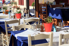 Greek tavern concept Stock Photography