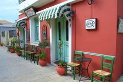 Greek tavern entrance,Lefkada, Greece Stock Photography