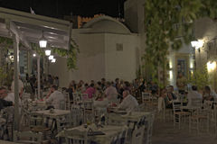 Greek tavern in Kastelli village Stock Images