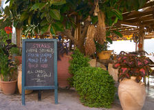 Greek taverna 2. A taverna in Panormo, Crete royalty free stock image