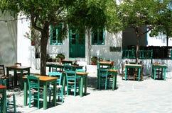 Greek taverna. In Folegandros island, Greece Royalty Free Stock Image