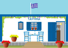 Greek Taverna Royalty Free Stock Photo
