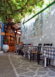 Greek taverna. Taverna in one beautiful small island in Greece Stock Image