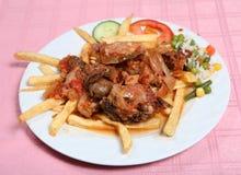 Greek taverna beef stifado Stock Image