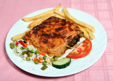 Greek taverna mousaka Royalty Free Stock Photography