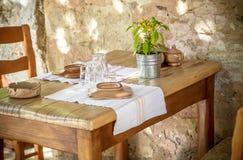 Greek taverna Stock Image
