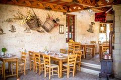 Greek taverna. Taverna - a typical Greek restaurant Stock Photography