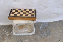 Greek Tavli game Stock Photo