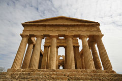 Greek temple. The Temple of Concordia - ancient Greek landmark in Agrigento, Sicily. It is the UNESCO World Heritage Site Stock Photos