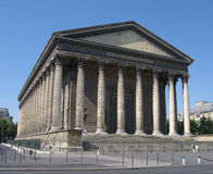 Greek Temple. The Madeleine Church in Paris was originally a greek temple royalty free stock images