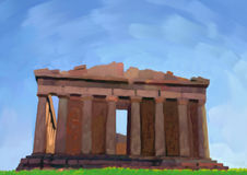 Greek temple Royalty Free Stock Image