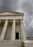Greek temple. Rare ancient Greek temple alike, orthodox church at Corfu Stock Photo