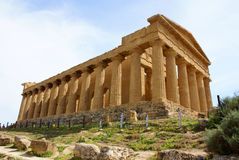 Greek temple agrigento Royalty Free Stock Image