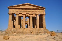 Greek temple from Agrigento. Royalty Free Stock Images