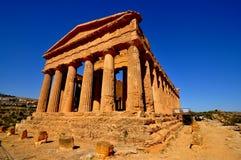 Greek Temple Agrigento Sicilia Stock Photo