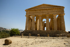 Greek temple, at Agrigento, Sicily Royalty Free Stock Image