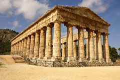 Greek temple in the ancient city of Segesta, Sicily Stock Photos