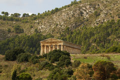 Greek temple in the ancient city of Segesta, Sicily Stock Image
