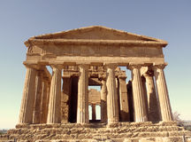 Greek temple. Ancient ruin of grecian temple royalty free stock images