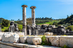Greek Temple of Artemis near Ephesus and Sardis Royalty Free Stock Images