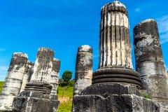 Greek Temple of Artemis near Ephesus and Sardis Stock Image