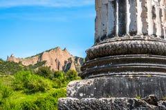 Greek Temple of Artemis near Ephesus and Sardis Stock Photos