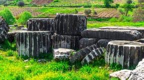 Greek Temple of Artemis near Ephesus and Sardis Stock Photography