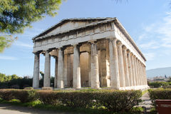 Greek temple in Athens Royalty Free Stock Images