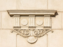 Greek Temple Bas Relief Stock Photo