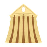 Greek temple of cartoon style on a white background. Vector illu Royalty Free Stock Photography